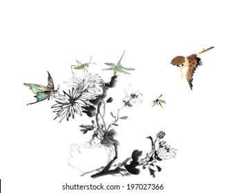 Chinese painting--chrysanthemum