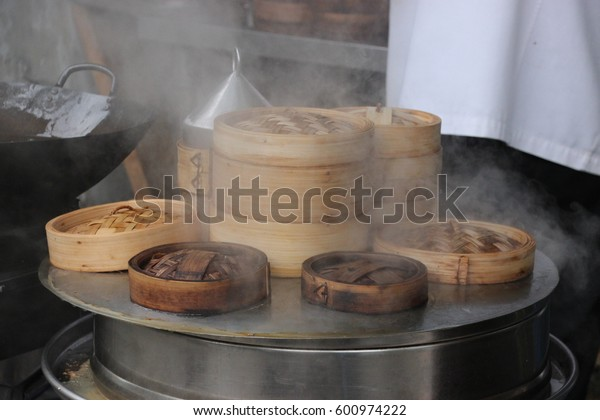 Chinese pastry in the shape of a basket to cook on water steam