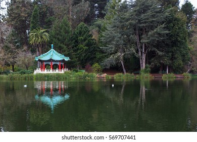 Chinese Pavilion in Golden Gate Park, San Francisco, CA