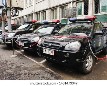 Chinese police cars for SWAT,August 15, 2019, Beijing, China.