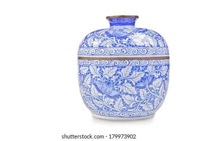 Chinese porcelain isolated on white
