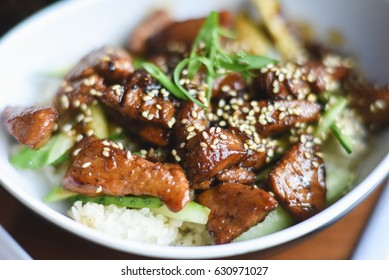 Chinese pork in sweet sour sauce