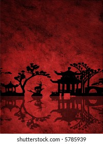 Chinese Red Landscape