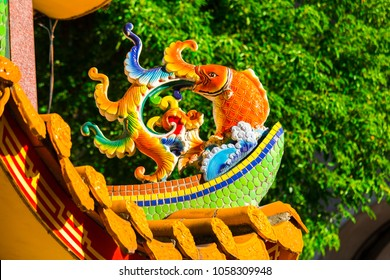 Chinese Religion, Temple Daikin Furnace, Mascot on top cover