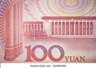 Chinese RMB bill close up