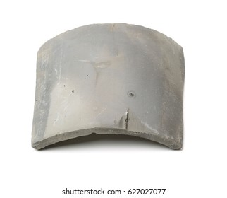 Chinese roof tiles on white background