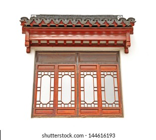 The Chinese roof and window