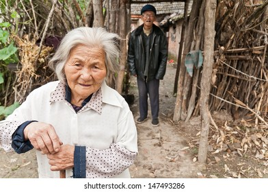 Chinese rural lonely elderly people