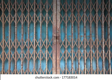 chinese rusty traditional gate or folding doors