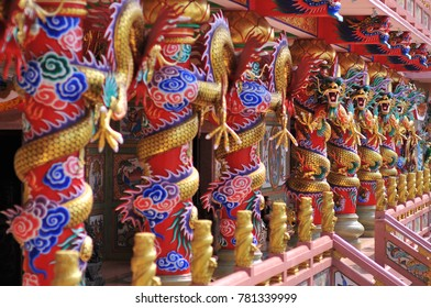 Chinese sculptures in Temple.