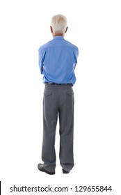 chinese senior business male back view