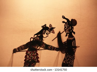 "Chinese shadow theater, is also known as ""the hand-operating shadow show"""