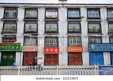 Chinese Shophouse. Lhasa/Tibet, China