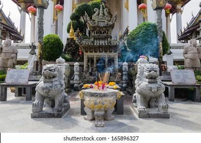 Chinese shrine at Wat Suthat Thepwararam, Bangkok