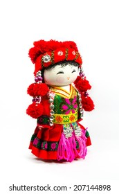 The Chinese souvenir dolls in national clothes