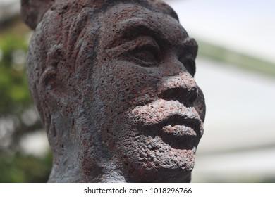 Chinese statue head
