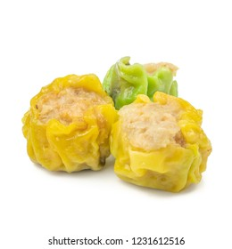 Chinese steamed Pork dumpling isolated on white background