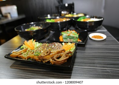 the chinese style of cold dish at display