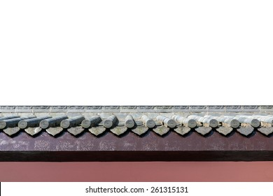 chinese style roof isolate