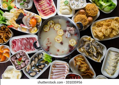 Chinese style steamboat foods