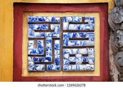 Chinese symbol good fortune made of ceramic