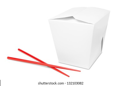 Chinese take away food box