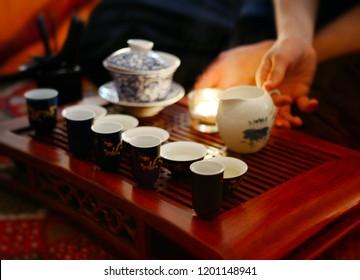 Chinese tea set, tea ceremony