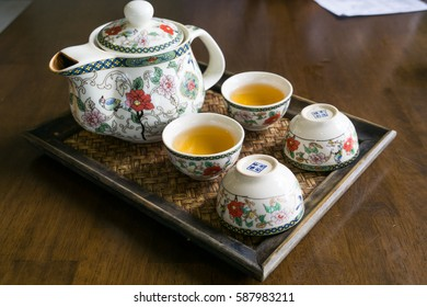Chinese tea, vintage teapot set and cup