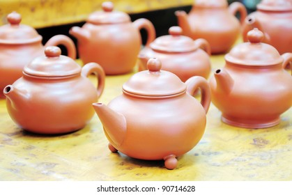 Chinese teapot display