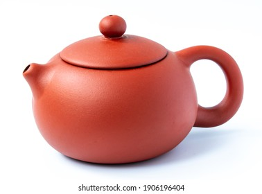 Chinese Teapot on white background. The Chinese tradition.