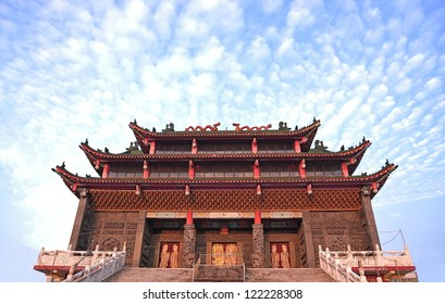 Chinese temple and blue sky