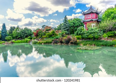 Chinese Temple Garden in Montreal in HDR # 2