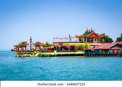 Chinese temple in George Town Chew jetty, Penang, Malaysia