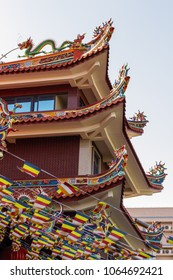 Chinese Temple Pagoda. Pagoda in several floors. Temple in the provincial town of China