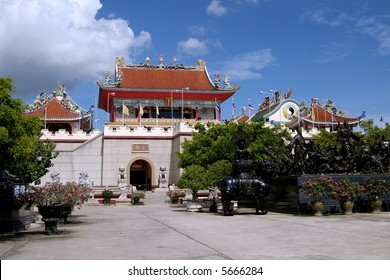 Chinese, temple style buildings containing a museum and exhibitions in Pattaya, Chonburi province, Thailand