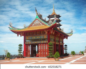 chinese temple under blue sky