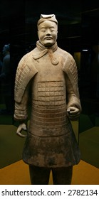 The Chinese terracotta soldier costs the face to the spectator