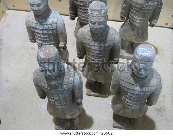 Chinese terracotta warriors.