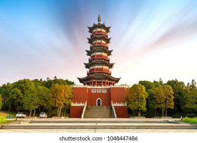 Chinese traditional ancient architecture: pagoda. Ancient architecture used to pray for good luck.