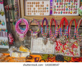 Chinese traditional bracelet shop at Fenghuang ancient town.phoenix ancient town or Fenghuang County is a county of Hunan Province, China