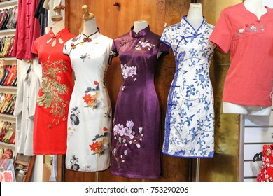 Chinese traditional dress store / cheongsam