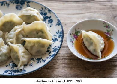 Chinese traditional food  jiaozi close-up