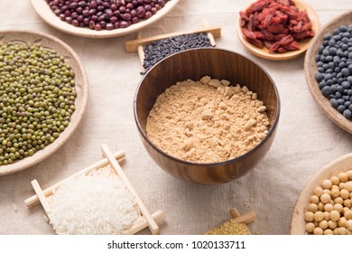 Chinese traditional food, made from a variety of grains ground into grain flour