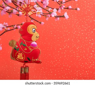 chinese traditional knot of monkey