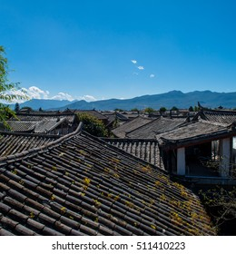 Chinese Traditional Tiled roofs in Dali, Yunnan, CHINA