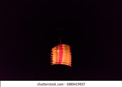 chinese tukkal(hot air balloon) in the Makar Sankranti festival of India. Makar Sankranti is kite festival of India. It is also known as uttarayan
