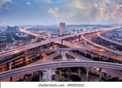 Chinese urban overpass