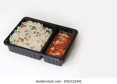 Chinese veg fried rice and chilli chicken combo in combo box