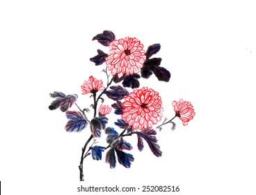 Chinese view-- chrysanthemum