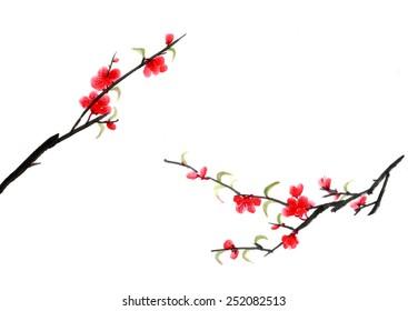 Chinese view-- plum blossom